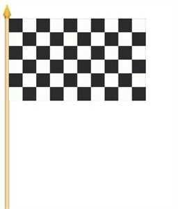Yantec 2er Pack Stockflaggen 30 x 45 : Zielflagge