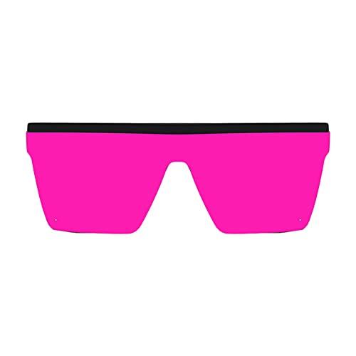 FITYLE Gafas de sol cuadradas clásicas Retro para mujer y hombre, gafas de sol de protección UV400 con montura de lentes grandes moradas de moda Vintage