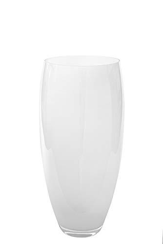 Fink Vase Africa - Glas Opal weiß H 28 cm D 14 cm