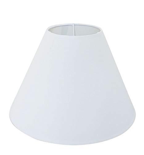 Lampenschirm/Tischleuchte/Stehlampe / 25 cm(U) x 9,5 cm(O) x 18 cm(H) / Weiß/Stoff/Oval rund/ E27 / Mittel