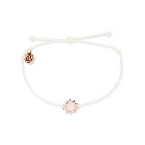 Pura Vida Rose Gold Sunkissed Bracelet - Waterproof, Adjustable Band - White