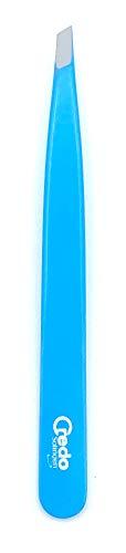 CREDO Pinzette 9 cm, schräg, POP ART lackiert, rostfrei, blau