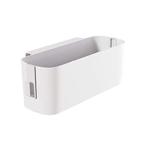 Naticy Cesta de almacenamiento con ganchos para dormitorio de estudiante, sala de estar, control remoto de tableta, caja de almacenamiento para colgar en la pared, cesta para colgar en la pared