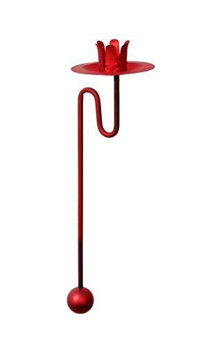 Baumkerzenhalter Balancehalter 6 er Set in rot-matt