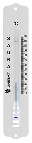 Lantelme Saunathermometer Metall weiß lackiert 20cm analog Sauna Thermometer Temperaturanzeiger 0 bis 120°C 5985