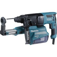 Makita HR2650JX14 SDS-Plus - Perforador cincelador (26 mm, 800 W, incluye accesorios y estuche Makpac
