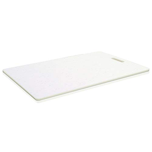 Glad White Extra Large Cutting Chopping Board | Dishwasher Safe | Non Porous, Easy to Clean, Gentle on Knives, 16.25 x 10.25