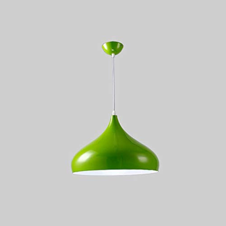 Xiao Fan  Restaurant-Kronleuchter im nordischen Stil Postmoderner einfacher Aluminium-Kronleuchter - Backfinish, Rostschutz, robust und langlebig (Farbe  grün-24cm)