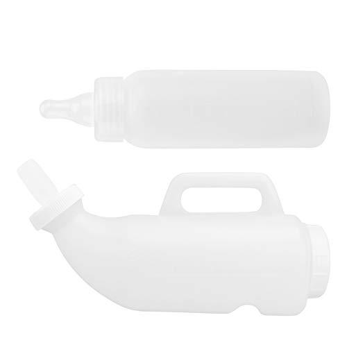 POPETPOP 2 Uds Botella de Lactancia de Becerro Lámpara de Bebé Biberón Alimentador de Leche Biberón de Alimentación para Animales Pequeños Blanco 2L