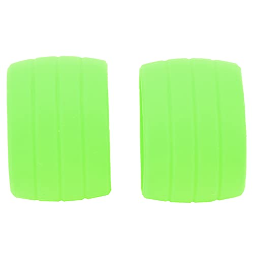 バイクハンドルバーテープストラップシリコンリング、アンチスキップハンドルバーテープ固定ベルトリングスリーブバイクシリコン弾性ストラップロードバイクバーテープ用固定リング(緑)