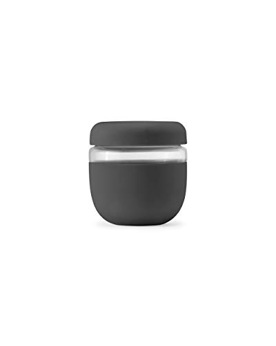 W&P Porter Seal Tight Glass Lunch Bowl Container w/ Lid   Charcoal 24...