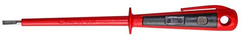 H+H Werkzeug 45900 Europrüfer/Spannungsprüfer/Phasenprüfer bis 250V GS geprüft nach VDE 0680 Made in Germany, rot/schwarz, 190 mm