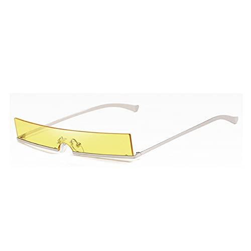 LUOXUEFEI Gafas De Sol Hombres Gafas De Sol De Medio Marco Mujeres Gafas De Sol Rectangulares Hombres