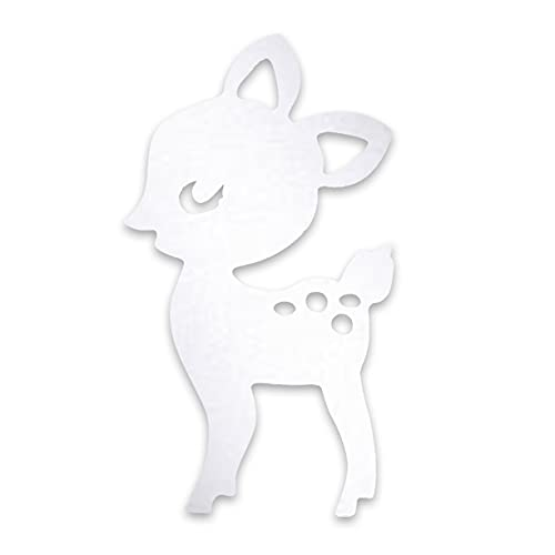 AnXiongStore Decorativo de Dibujos Animados para niños, Espejo de baño, vivero, Conejo, Ciervo, Marco de Espejo acrílico, decoración Creativa del hogar