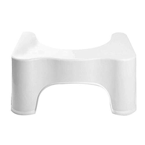 Nihlsfen Kunststoff Toilettenhocker Gepolsterter Tritthocker Pp Einzelprodukt OPP Beutel Verpackung Starke Tragfähigkeit Robust - Weiß - S.