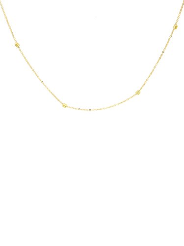MyGold dameshalsketting gouden ketting geelgoud 375 goud (9 karaat) ankerketting veerring lengte 45 cm fijn zacht geschenk voor vrouwen meisjes Mirato K-01052-G601-AK10-F45cm