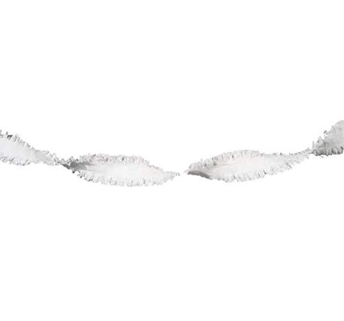 Folat Guirlande Papier 6 m Blanc