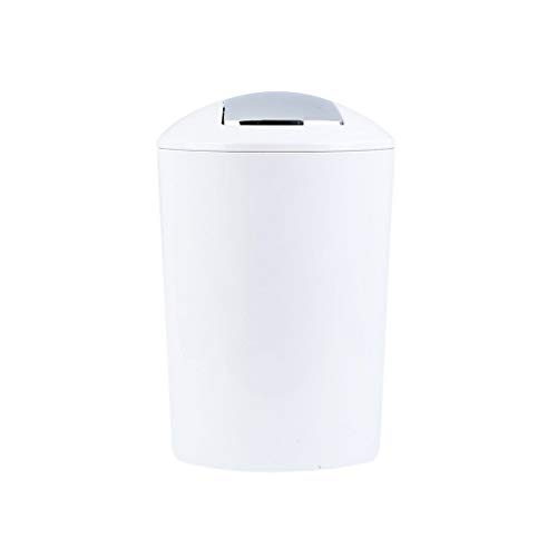 ZWJ-Garbage can Trash Can Plastic Swing Cover Household Bathroom Living Room WC Bedroom Kitchen Trash Bin (Size : S)