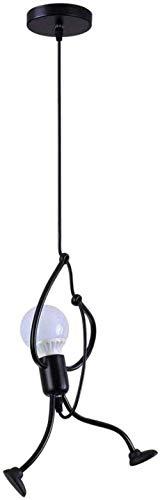 Iron Kroonluchter Lamp plafond spotlicht Creative Cartoon Zwart Modern Minimalistisch binnenland van de slaapkamer verlichting studie Grenier Restaurant Open haard E27 omvat niet de lamp