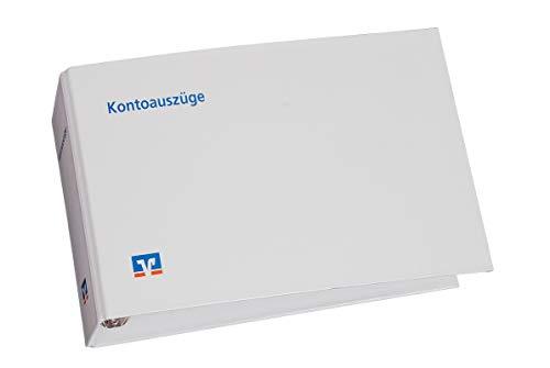1 x Kontoauszugsordner weiß mit Volksbank Logo, Ordner für Kontoauszüge, Bankordner