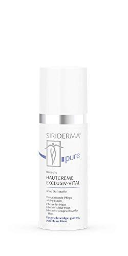 SIRIDERMA pure Basische Hautcreme Exclusiv-Vital | 50 ml | Ohne Duftstoffe | Glättende Pflege für anspruchsvolle und reife Haut