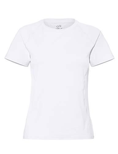 CARE OF by PUMA Camiseta de entrenamiento de manga corta para mujer, Blanco (White), 38, Label: S