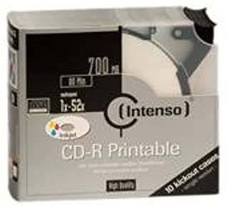 Intenso CD-R 700Mb 52x Kick-out (10) Printable 10 Pieza(s ...