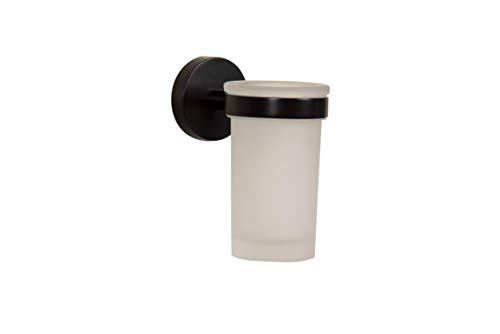 Croydex QM481821 Bathroom Tumbler, One Size, Black