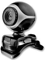 Trust Exis Webcam 300K mit Mikrofon, schwarz / silber