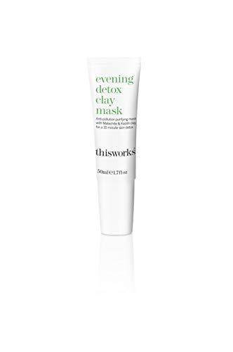 This Works Evening Detox Clay Mask - Detox gezichtsmasker met klei, per stuk verpakt (1 x 0,05 kg)