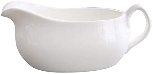 LRX Jarra de Leche Barco de Salsa de Porcelana Blanca con asa y Labio sin Gota para Salsas de Calentamiento de Salsa, aderezos para ensaladas (Size : 100ml)