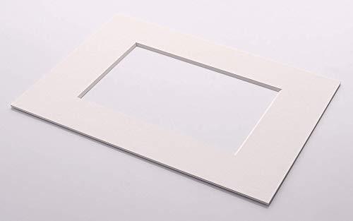 Passepartout-Online 2,0mm Premium Museumsqualität Nielsen Bainbridge 5X weiß Außen: 20x20 für Bildgröße: 12x12