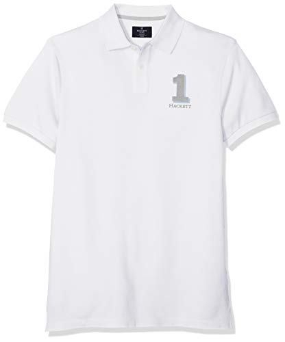 Hackett London New Classic Polo, Blanco (Optic White 802), X-Large para Hombre