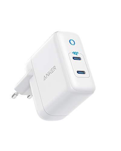 Anker Caricatore PowerIQ 3.0 2 Porte 36W, Caricatore a Muro Cavo USB Type-c PowerPort III Duo Compact, per iPhone XR/Xs/Max/X/8/Plus, Galaxy S10/S9, Pixel 3a/3/XL, iPad PRO, ECC.