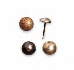 Borchiette a spillo diametro 9 mm per decorare sedie, arredamenti, divani, Quantità: 100 pezzi, Colore: Canna di Fucile