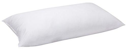 Pikolin Home - Almohada, de Fibra Tacto Gel con Funda de algodón, Blanco, 40x70x18cm (Todas las medidas)