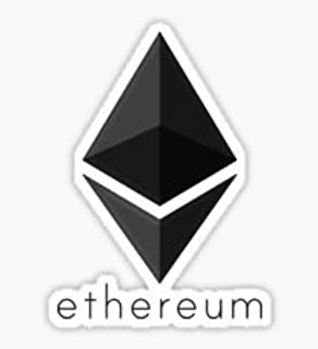 2pcs - Ethereum coin ! Symbol 4inch Cryptocurrency Digital Decal Sticker For Use On Laptop, Helmet, Car, Truck, Motorcycle, Windows, Bumper, and Wall/door Decal