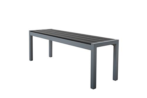 Chicreat Garden Bench, Silver Grey, Aluminium, 135 x 40 x 45 cm