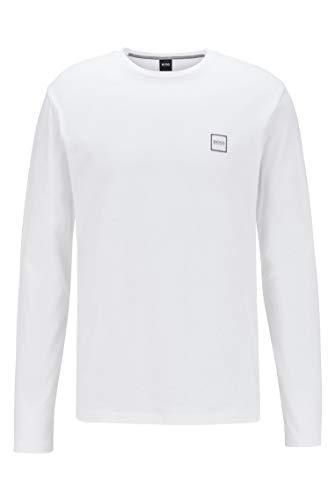 BOSS Herren Tacks Longsleeve aus gewaschenem Single Jersey mit Aufdruck
