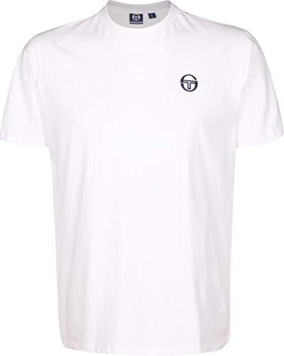 Sergio Tacchini Sergio Ss20 - Maglietta da Uomo, Taglia XL, Colore: Bianco/Blu Navy