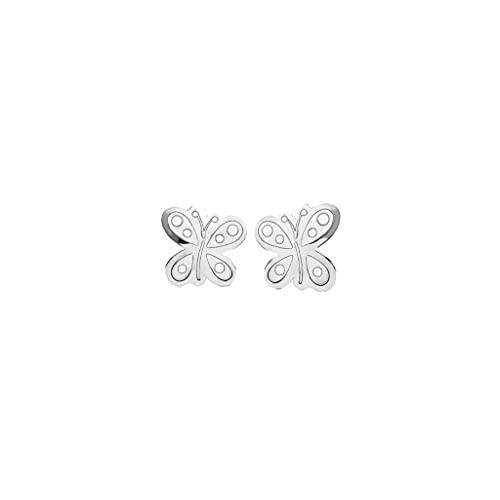 Pendientes Mariposa Oro Blanco