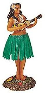 KC Hawaii Leilani Dashboard Hula Doll Playing Ukulele Green 7 inch