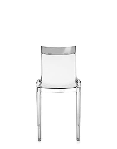 Kartell Hi Cut Silla, Trasparente/Gris (Fumè), 46 x 84 x 93 cm, 2 Unidades