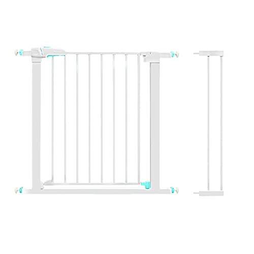 MEARCOO Walk Through Stairways Safety Gates, Auto Close Sturdy Metal Baby Fence, Household Barrier for Kids and Pet, Indoor Hallways or Doorways Dog Fence