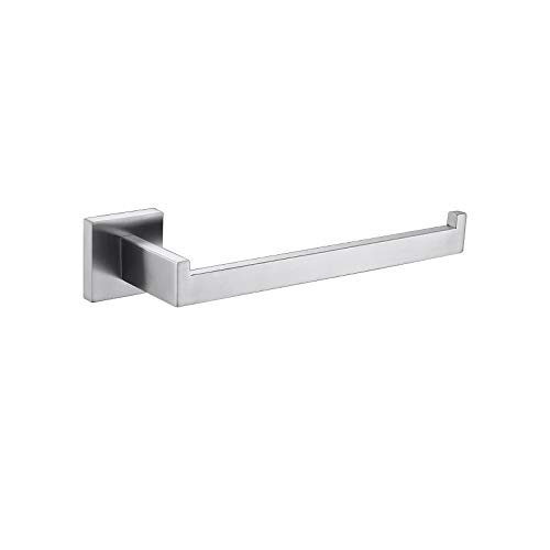 TASTOS Premium Stainless Steel Hand Towel Holder, Square Hand Towel Ring Heavy Duty Wall Mounted Modern Hand Towel Bar for Bathroom Kitchen, Brushed Nickel