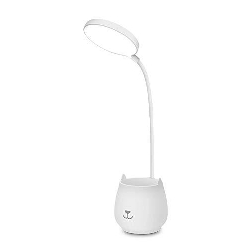 Lámparas de Escritorio LED,Lluminación Nocturna,Lámparas de Mesa 3 modos de color,Recargable USB con Control Táctil,Cuidado de ojos,Flexo LED para Leer,Trabajar,Bolígrafo y soporte para teléfono