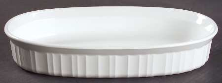Vintage Corning ware 10' French White Oblong Open Baking Dish F-7-B