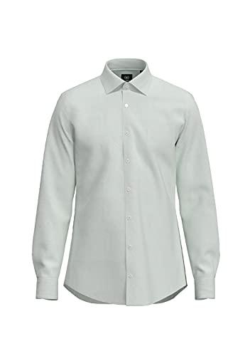 Strellson Premium Herren 11 Santos 10000894 Businesshemd, Weiß (White 100), Kragenweite: 39 cm