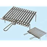 Griglia graticola In acciaio cromato (40x35xH10 cm. - manico singolo)
