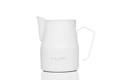 Dritan Alsela Professionale Bricchetto per Latte, Antiaderente, lattiera Bianco 750ml